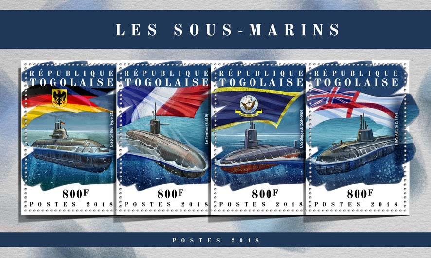 Submarines - Issue of Togo postage stamps