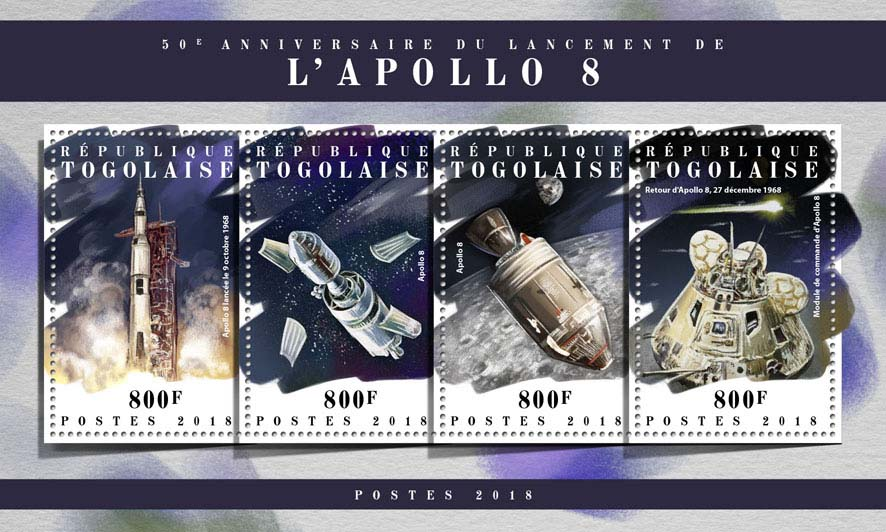 Apollo 8 - Issue of Togo postage stamps