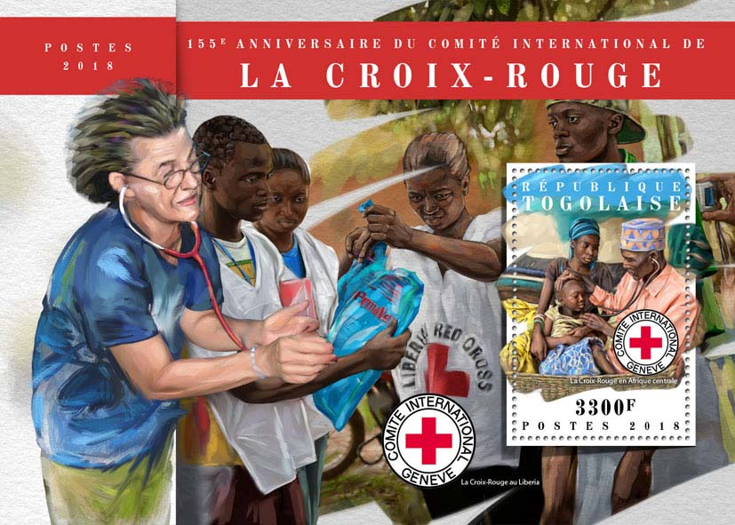 Red Cross  - Issue of Togo postage stamps