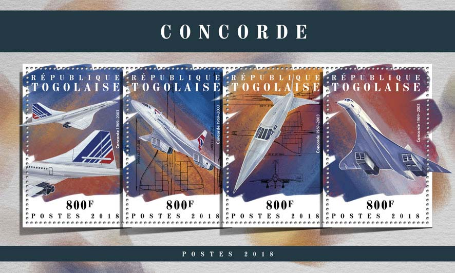 Concorde - Issue of Togo postage stamps