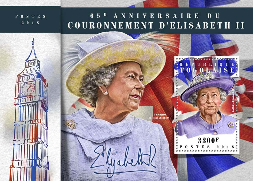 Elizabeth II - Issue of Togo postage stamps