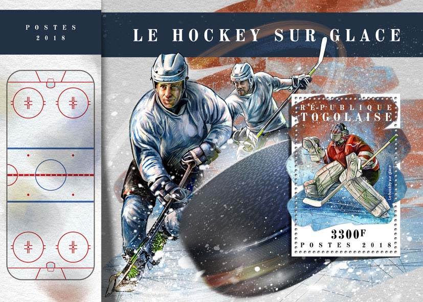 Ice hockey  - Issue of Togo postage stamps