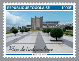 Square of independence - Issue of Togo postage stamps