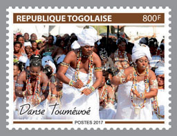 Toumewoe Dance - Issue of Togo postage stamps