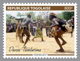 Tamberma Dance - Issue of Togo postage stamps
