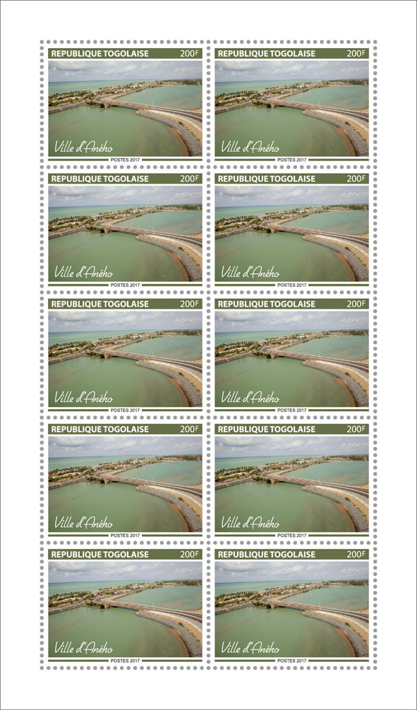 Aneho Town - Issue of Togo postage stamps