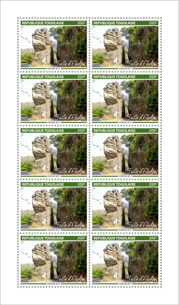 Fault of Aledjo - Issue of Togo postage stamps
