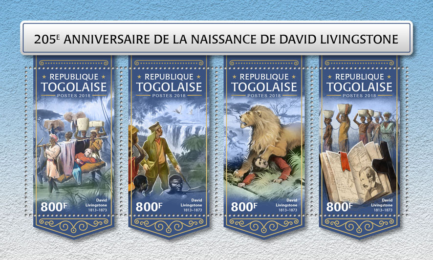 David Livingstone  - Issue of Togo postage stamps