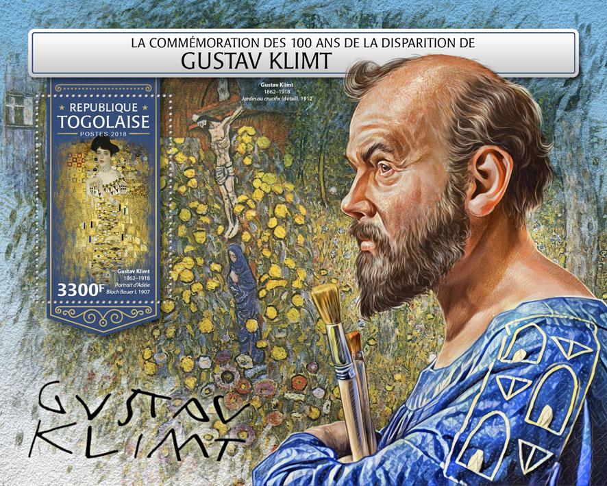 Gustav Klimt - Issue of Togo postage stamps