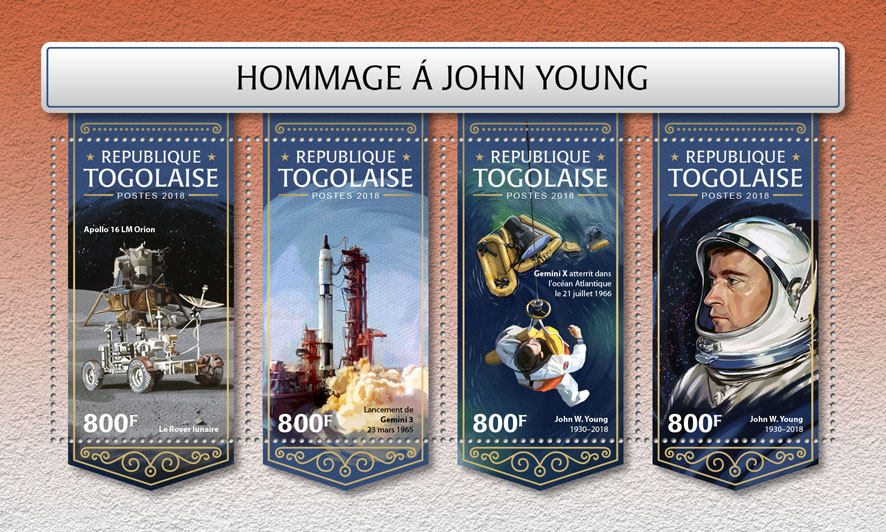 John Young - Issue of Togo postage stamps