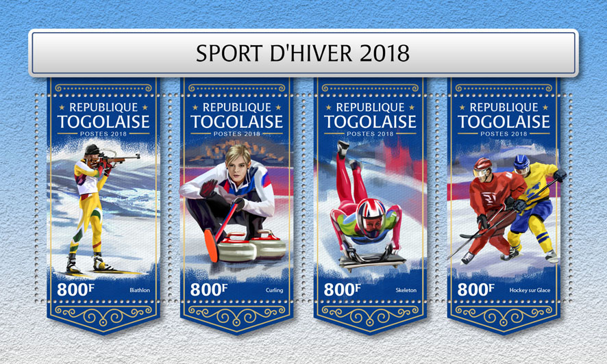 Winter sport - Issue of Togo postage stamps