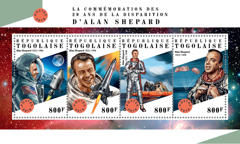 Alan Shepard - Issue of Togo postage stamps
