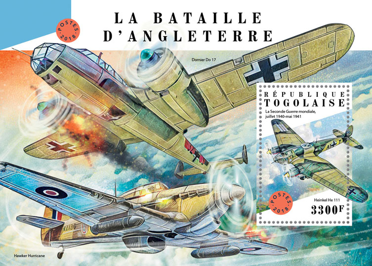 Battle of Britain - Issue of Togo postage stamps