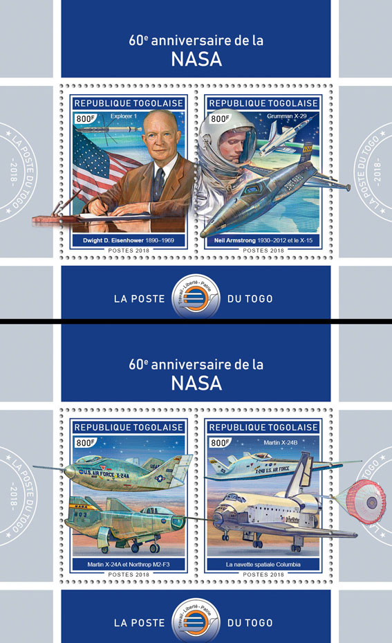NASA (I) - Issue of Togo postage stamps