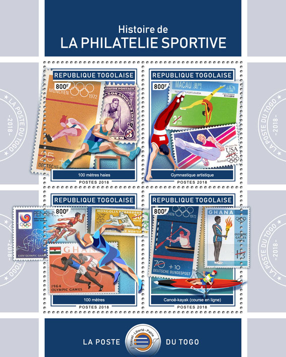 Stamps on  stamps (II) - Issue of Togo postage stamps