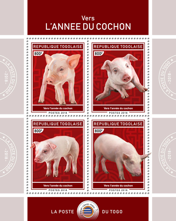 Year of the Pig (I) - Issue of Togo postage stamps