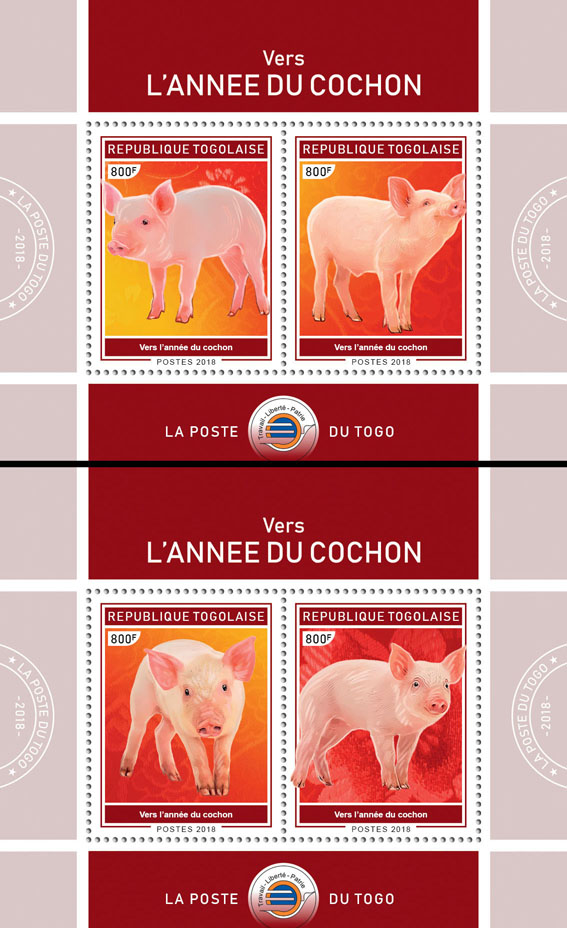 Year of the Pig (II) - Issue of Togo postage stamps