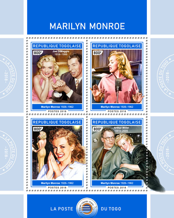 Marilyn Monroe(I) - Issue of Togo postage stamps