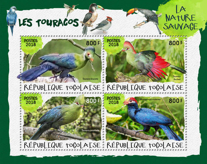 Toucans (I) - Issue of Togo postage stamps