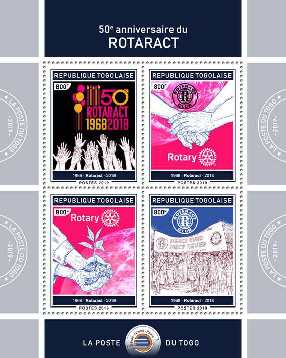Rotaract - Issue of Togo postage stamps