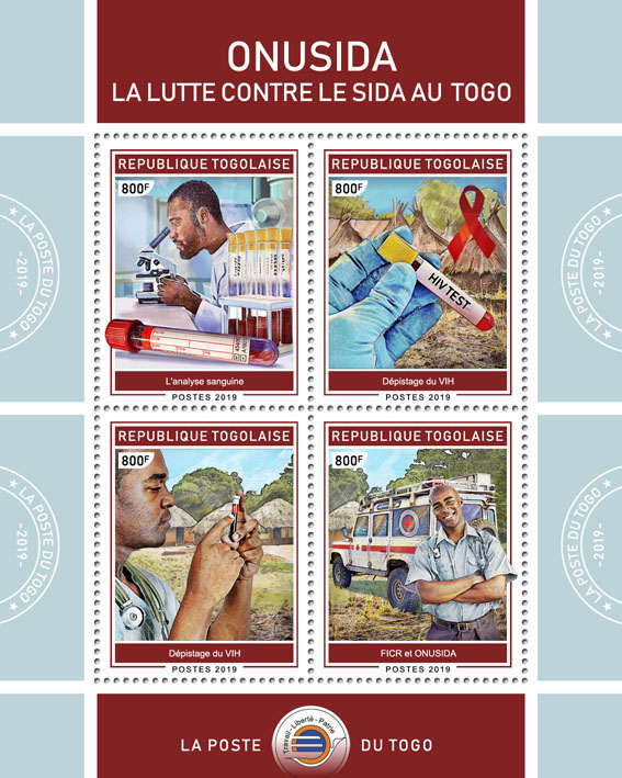 AIDS in Togo  - Issue of Togo postage stamps