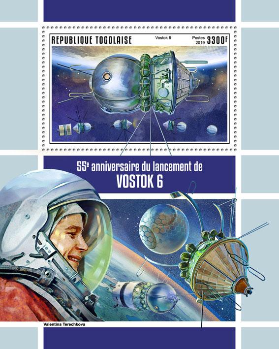 Vostok 6  - Issue of Togo postage stamps
