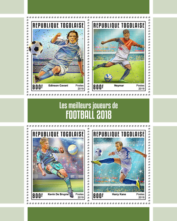 The best football players - Issue of Togo postage stamps