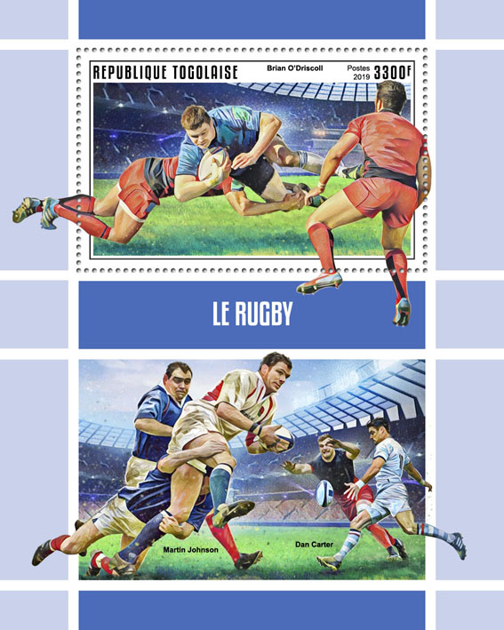 Rugby - Issue of Togo postage stamps