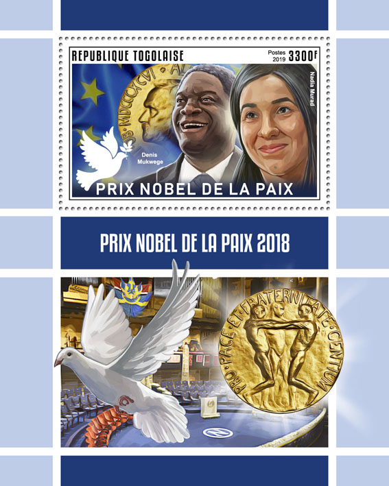 Nobel Peace Prize - Issue of Togo postage stamps
