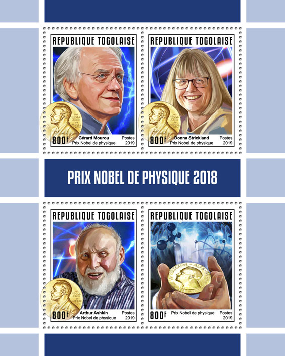 Nobel Prize in Physics - Issue of Togo postage stamps