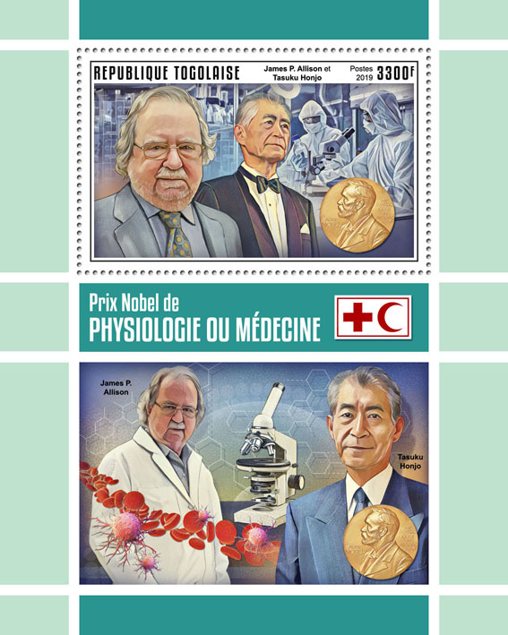 Nobel Prize in Physiology or Medicine - Issue of Togo postage stamps