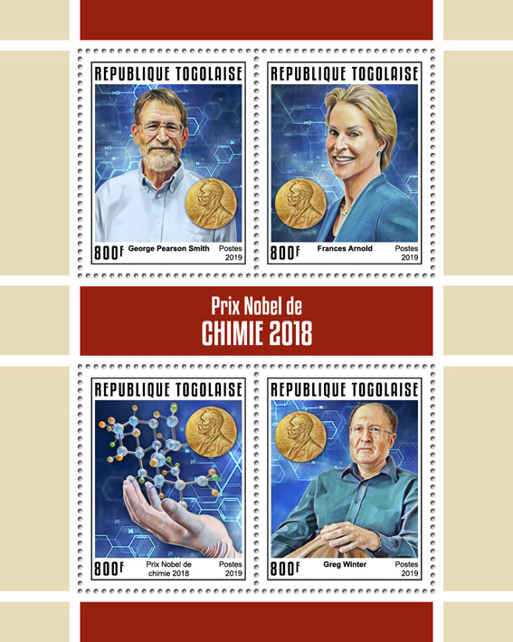 Nobel Prize in Chemistry - Issue of Togo postage stamps