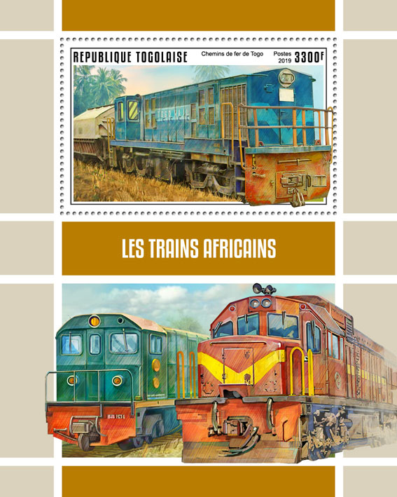 African trains - Issue of Togo postage stamps