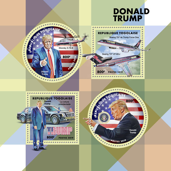 Donald Trump - Issue of Togo postage stamps
