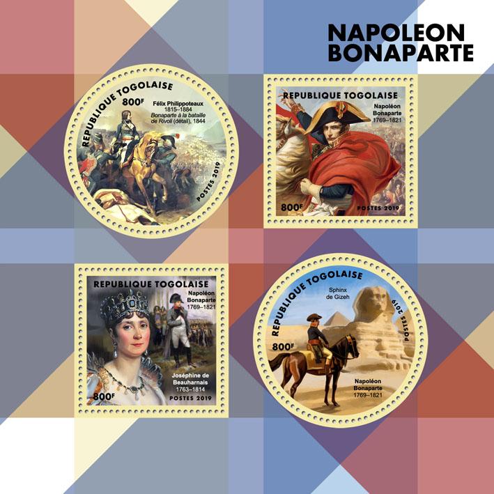 Napoleon Bonaparte - Issue of Togo postage stamps