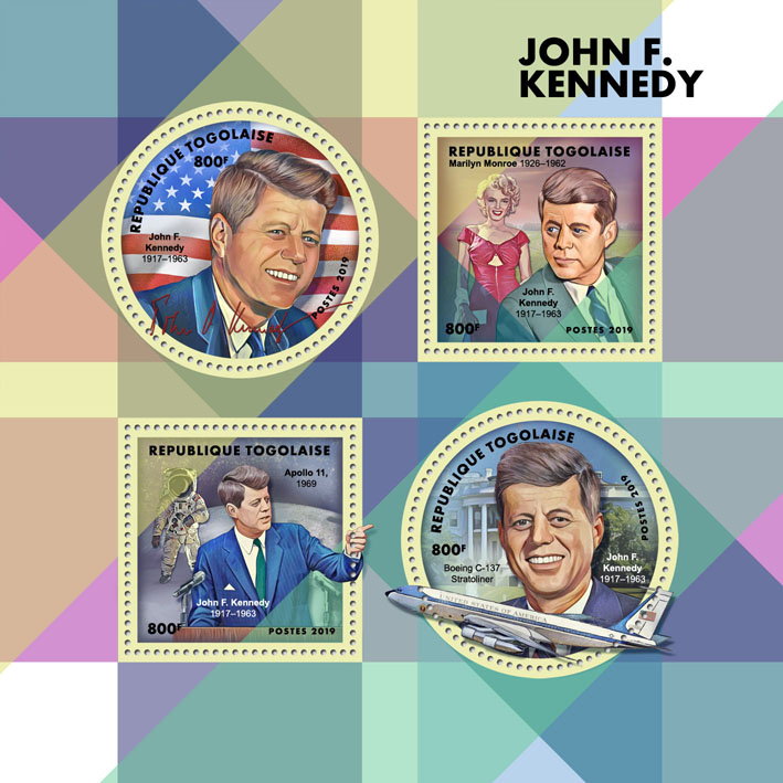 J. F. Kennedy - Issue of Togo postage stamps