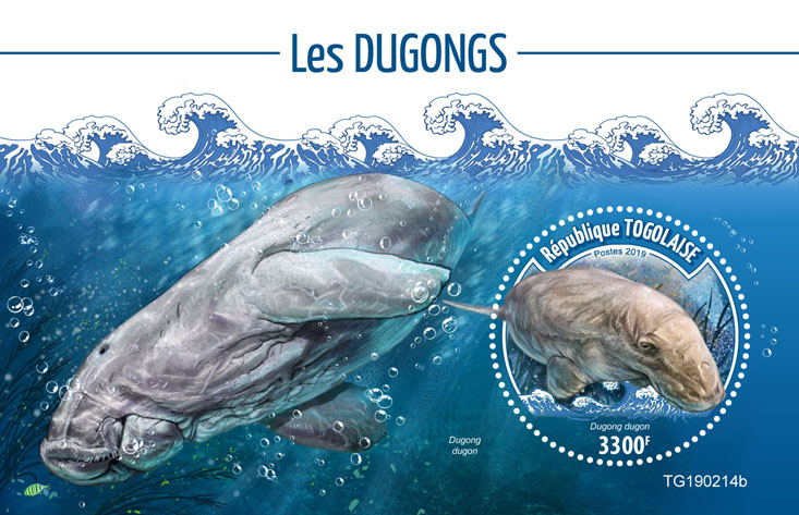 Dugongs - Issue of Togo postage stamps