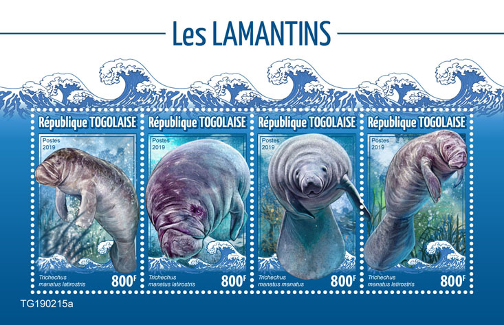 Manatees - Issue of Togo postage stamps