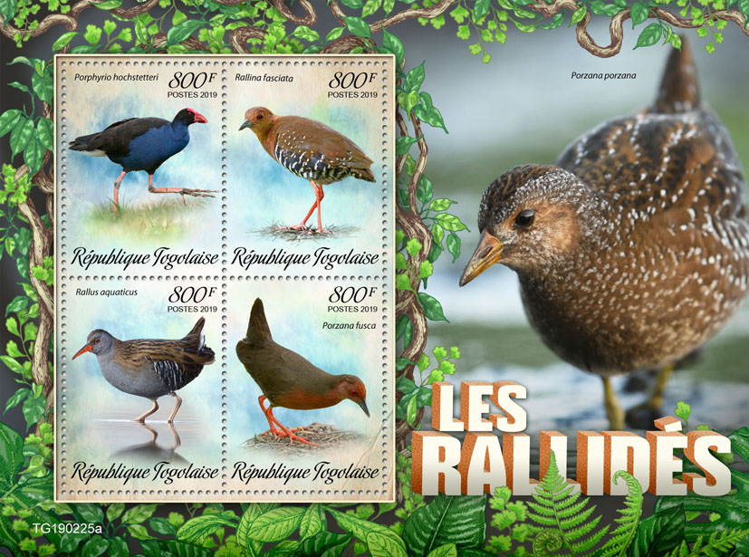 Rails - Issue of Togo postage stamps