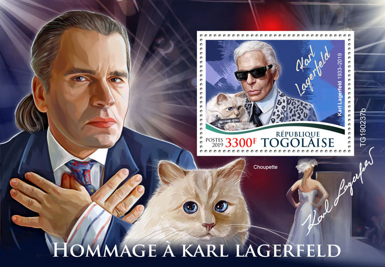 Karl Lagerfeld - Issue of Togo postage stamps