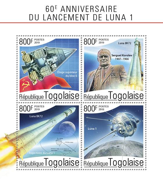 Luna 1 - Issue of Togo postage stamps