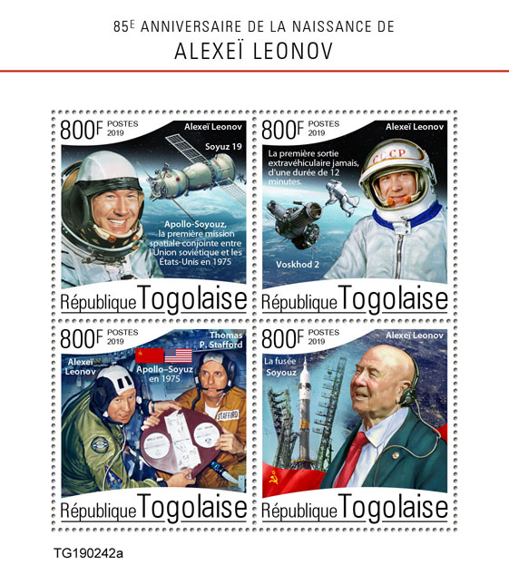 Alexei Leonov - Issue of Togo postage stamps