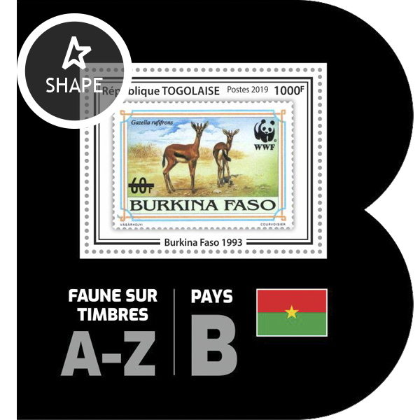 Stamps on stamps SS 17 - Issue of Togo postage stamps