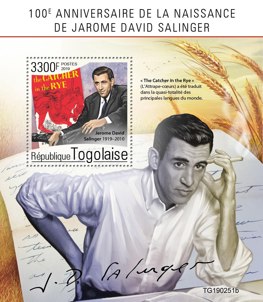 Jarome David Salinger - Issue of Togo postage stamps