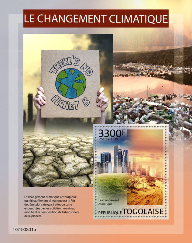 Climate change - Issue of Togo postage stamps