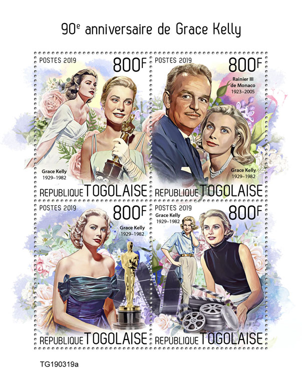 Grace Kelly - Issue of Togo postage stamps