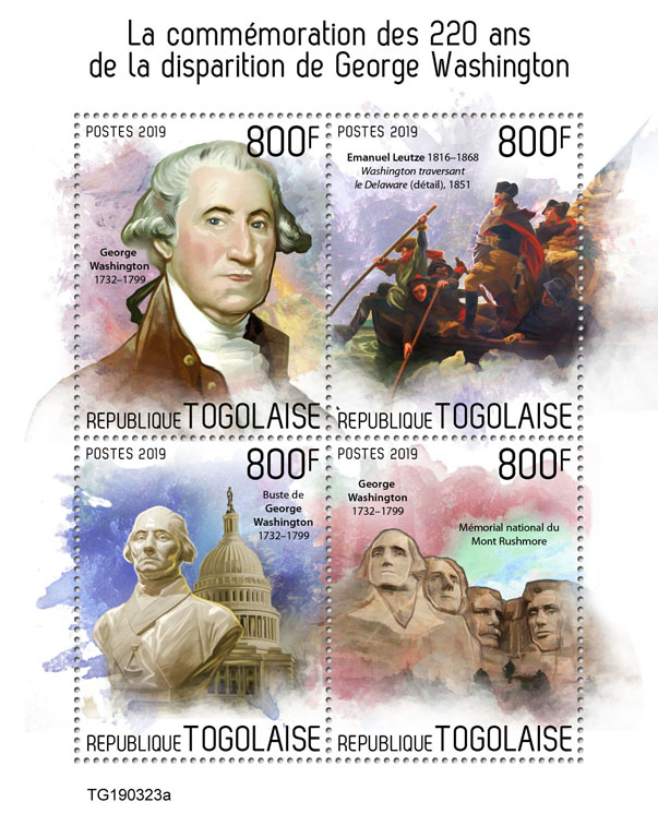 George Washington - Issue of Togo postage stamps