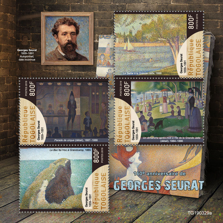 Georges Seurat  - Issue of Togo postage stamps