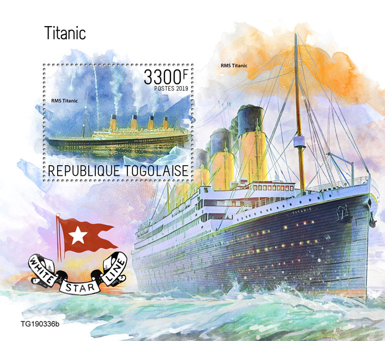 Titanic  - Issue of Togo postage stamps