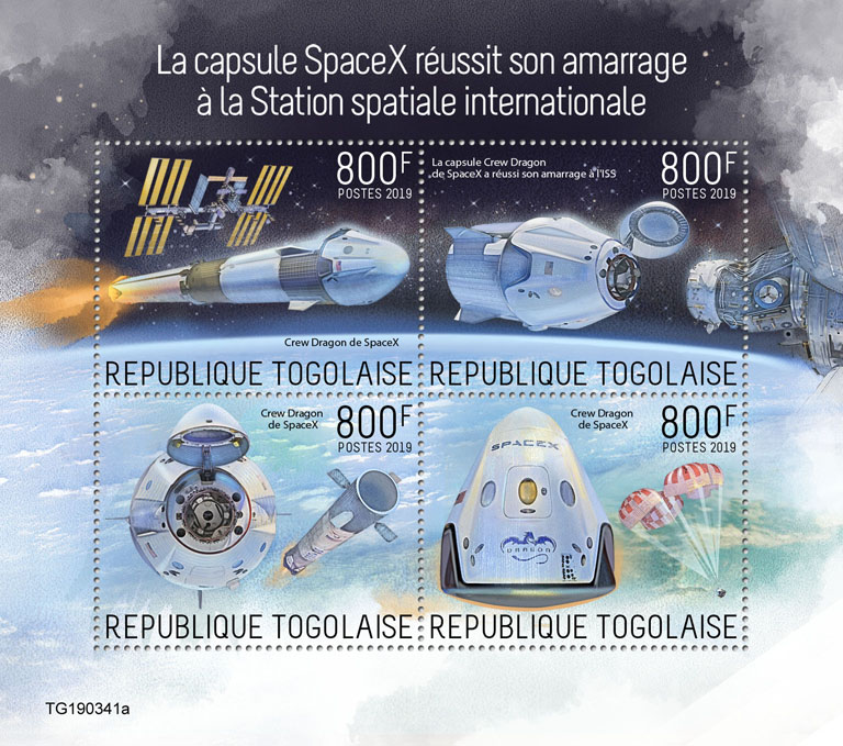 SpaceX - Issue of Togo postage stamps